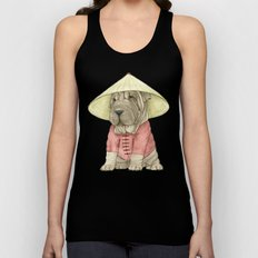 Shar Pei on the Great Wall Unisex Tank Top