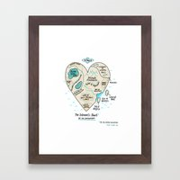 A Map of the Introvert's Heart Framed Art Print