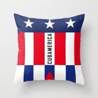 Cubamerica Throw Pillow