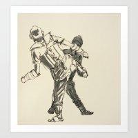 Tae Kwon Do Sparring Art Print