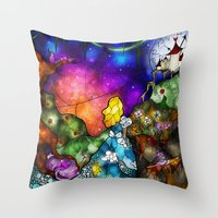 Wonderland (Once Upon A Time Series) Throw Pillow