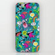 iPhone & iPod Skin featuring Monster Party by Chris Piascik