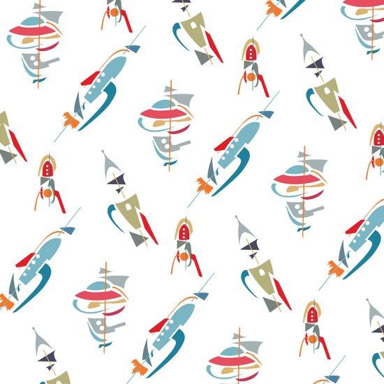 Abstracted Rockets Art Print
