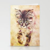 Watercolor Cat Stationery Cards