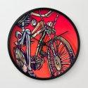 Calaveira Rider Wall Clock
