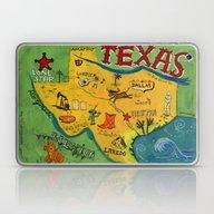 Postcard From Texas Prin… Laptop & iPad Skin