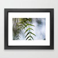Fresh Leaves Framed Art Print