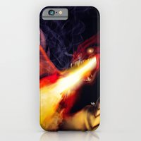 iPhone & iPod Case featuring Fire Breather by gottalovedrawing