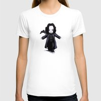Plush Crow 2.0 Womens Fitted Tee White SMALL