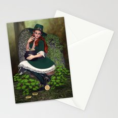 Leprechaun Lass Stationery Cards