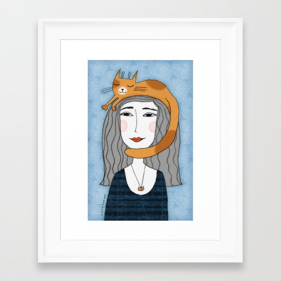 HEAD MASSAGE Framed Art Print