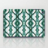 Watercolor Green Tile 1 iPad Case