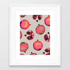 Pomegranate Pattern Framed Art Print
