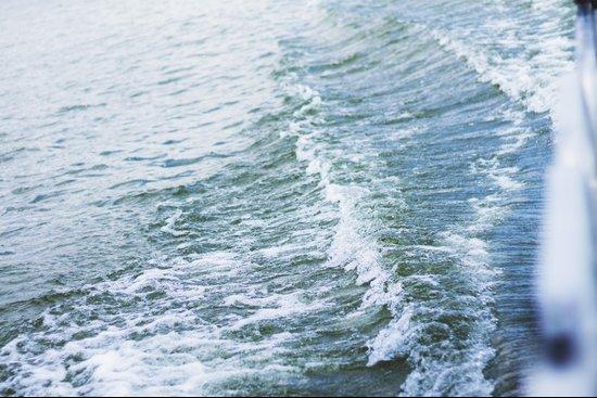 Waves on waves Art Print