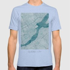 Quebec City Map Blue Vintage Mens Fitted Tee Athletic Blue SMALL