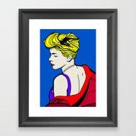 Framed Art Print featuring Robyn - Roy Lichtenstein… by Alli Vanes