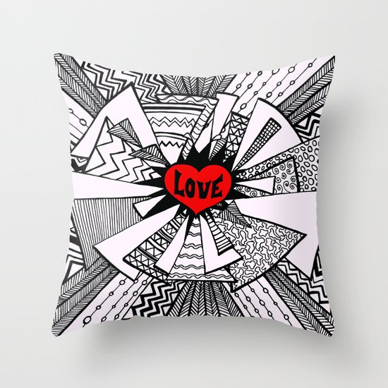 Power of Love... Throw Pillow
