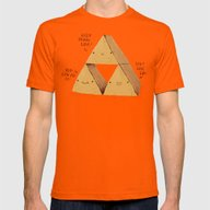 The Try Force. Mens Fitted Tee Orange SMALL