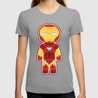 Chibi Iron Man Womens Fitted Tee Tri-Grey SMALL