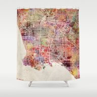 Los Angeles Shower Curtain