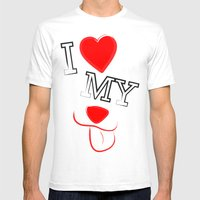 I Love My Dog Mens Fitted Tee White SMALL