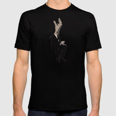 Hand in need Mens Fitted Tee Black SMALL