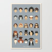 25 FACES OF JOHNNY Canvas Print