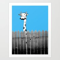 Curious Neighbor Art Print