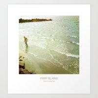 Fishing - Fripp Island S… Art Print