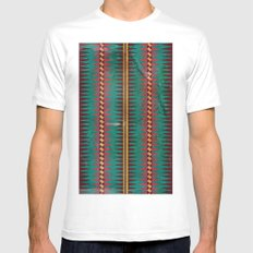 Geo Blanket Mens Fitted Tee White SMALL