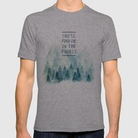 You´ll find me in the forest Mens Fitted Tee Athletic Grey SMALL