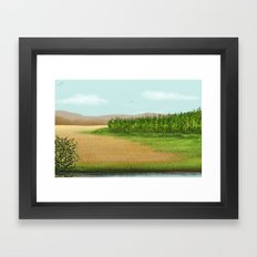 Golden Cornfield Framed Art Print