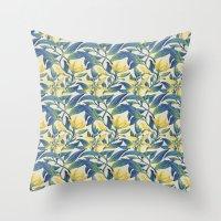 Vanilla Flowers Throw Pillow