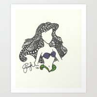 Ariel Zen Tangle Art Print