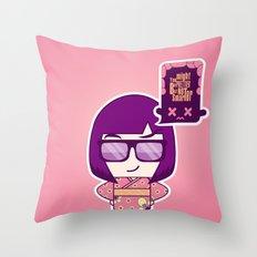 Smart Kokeshi Throw Pillow