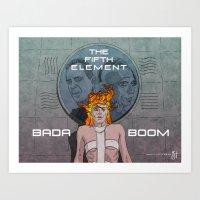 Bada Boom Art Print