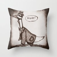 Honk! Throw Pillow