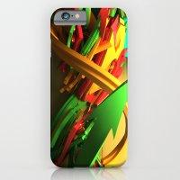 3d graffiti - OrganaYellow iPhone 6 Slim Case