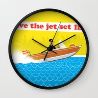 Live The Jet Set Life! Wall Clock