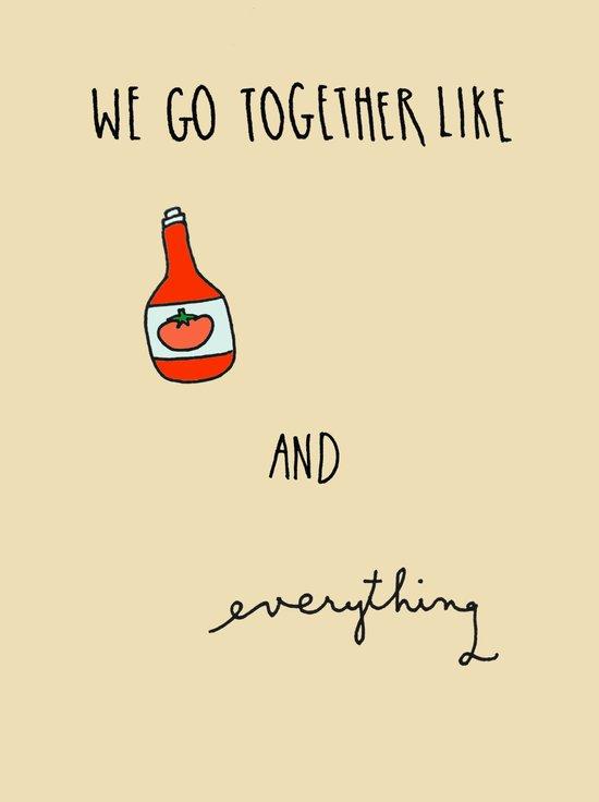 Like Ketchup and Everything Art Print