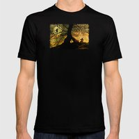 A mysterious place Mens Fitted Tee Black SMALL