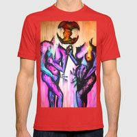 Adam and Eve Mens Fitted Tee Red SMALL