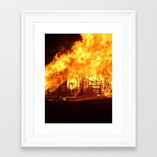 Burning Down the House Framed Art Print