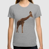 Giraffe Pope Womens Fitted Tee Athletic Grey SMALL