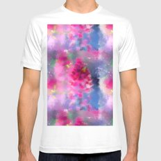 Spring floral paint 1 SMALL Mens Fitted Tee White