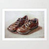shoes Art Prints featuring Shoes by Tapio Mömmö