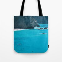 Blue Paradise, seascape photography. Mediterranean blue sea, summer vacations Tote Bag