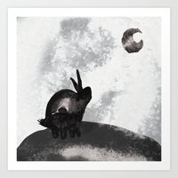 。Yearning For The Moon… Art Print
