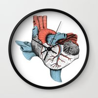 The Heart of Texas (Red, White and Blue) Wall Clock