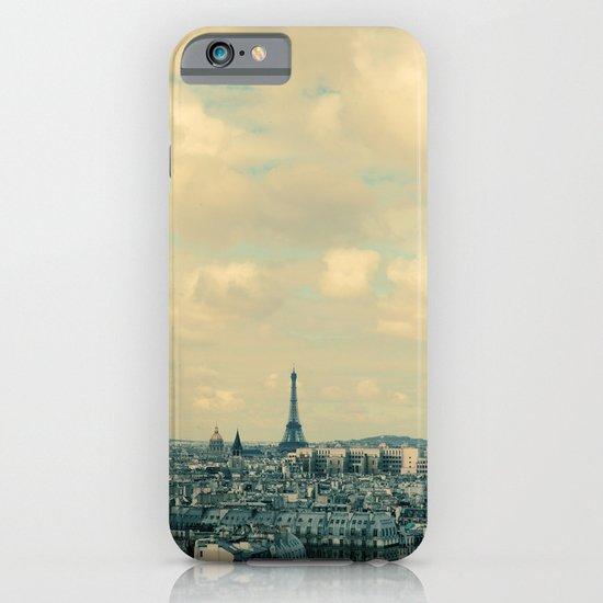 Paris In Blue iPhone & iPod Case